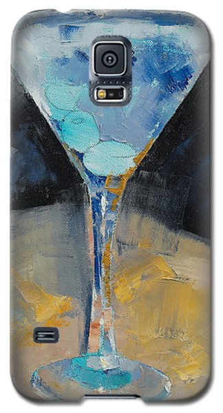 Blue Art Martini Galaxy S5 Case by Michael Creese