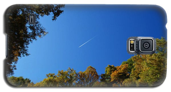Galaxy S5 Case featuring the photograph Blue Autumn Skies by Kelvin Booker