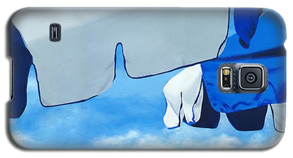 Blue Beach Umbrellas 2 Galaxy S5 Case