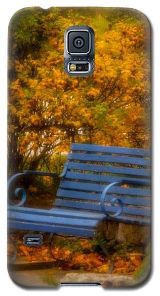 Blue Bench - Autumn - Deer Isle - Maine Galaxy S5 Case