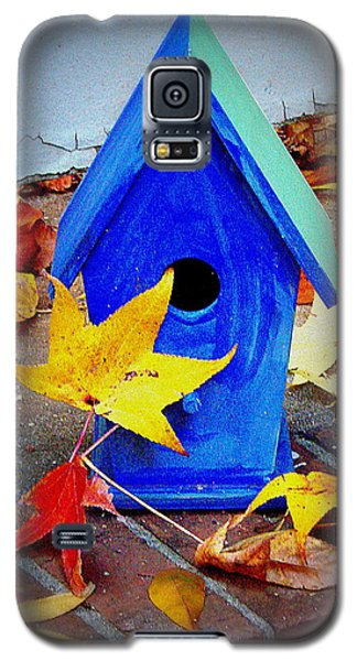 Galaxy S5 Case featuring the photograph Blue Bird House by Rodney Lee Williams
