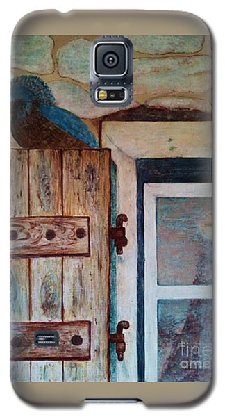 Galaxy S5 Case featuring the painting Blue Bird by Jasna Gopic