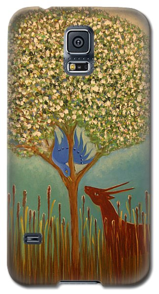 Blue Bird Singing Galaxy S5 Case