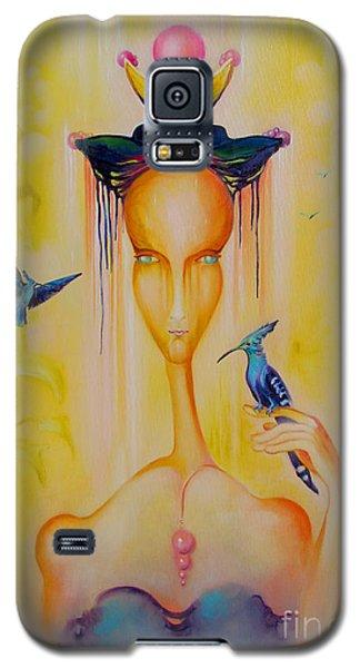 Galaxy S5 Case featuring the painting Blue Birds by Alexa Szlavics
