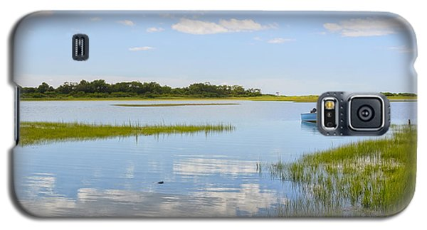Blue Boat In The Backwaters Galaxy S5 Case