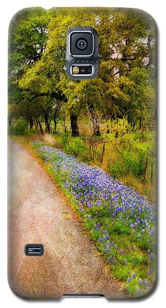 Blue Bonnet Path Galaxy S5 Case
