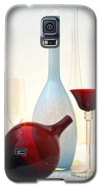 Galaxy S5 Case featuring the photograph Blue Bottle by Elf Evans