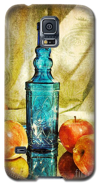 Blue Bottle With Apples Galaxy S5 Case by Kelly Nowak