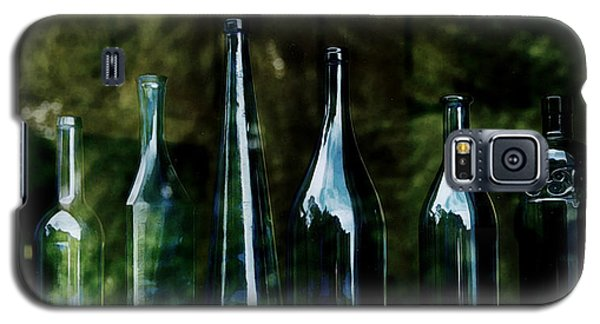 Blue Bottles On A Windowsill Galaxy S5 Case by Marion McCristall
