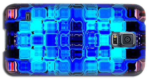 Blue Bubble Glass Galaxy S5 Case by Anita Lewis
