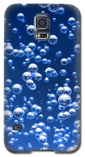 Blue Bubbles Galaxy S5 Case by Bruno Haver