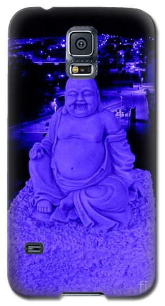 Blue Buddha And The Blue City Galaxy S5 Case by Linda Prewer