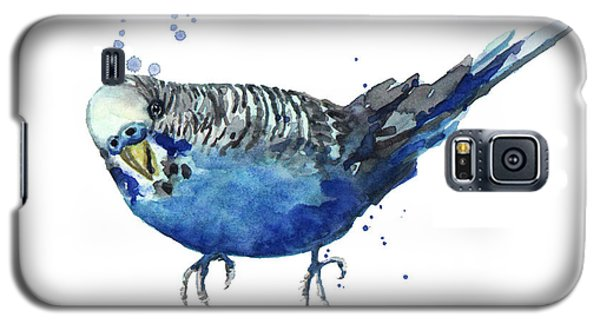 Parakeet Galaxy S5 Case - Blue Budgerigar by Alison Fennell