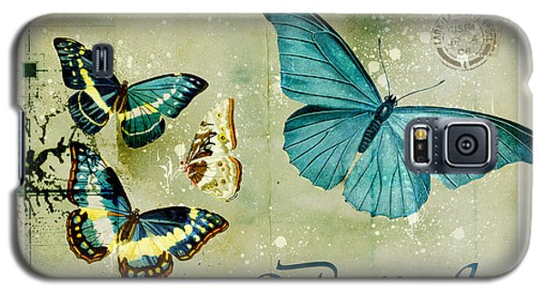 Butterfly Galaxy S5 Case - Blue Butterfly - S55c01 by Variance Collections