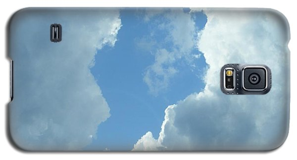 Galaxy S5 Case featuring the photograph Blue Center by Nancy Kane Chapman