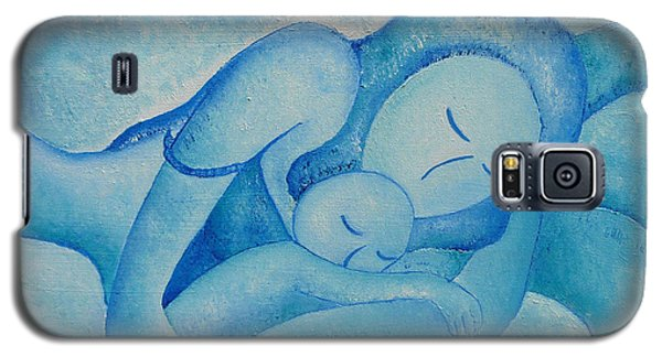 Galaxy S5 Case featuring the painting Blue Co Sleeping by Gioia Albano