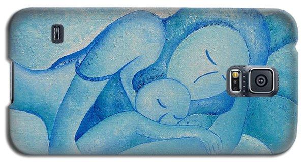 Blue Co Sleeping Galaxy S5 Case by Gioia Albano
