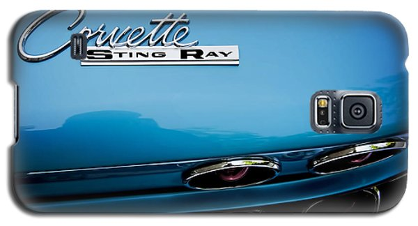 Blue Corvette Sting Ray Rear Emblem Galaxy S5 Case