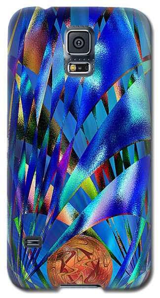 Blue Cosmic Egg - Abstract Galaxy S5 Case