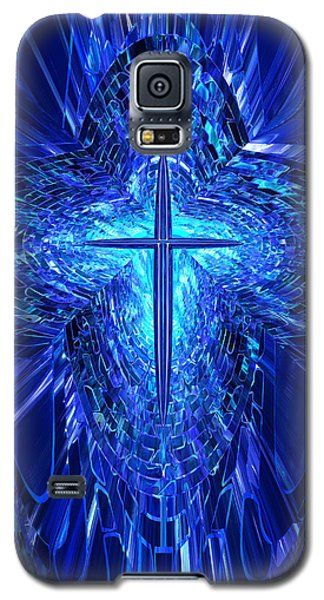 Blue Cross Galaxy S5 Case