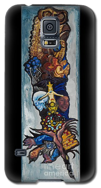 Blue Crow Feather- Crow Series Galaxy S5 Case