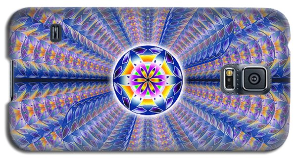 Galaxy S5 Case featuring the drawing Blue Crystal Consciousness by Derek Gedney