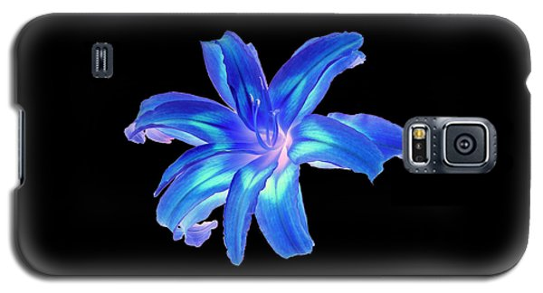 Blue Day Lily #2 Galaxy S5 Case