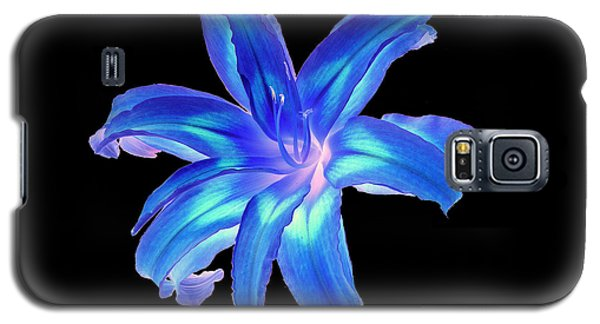 Galaxy S5 Case featuring the photograph Blue Day Lily #2 by Jim Whalen