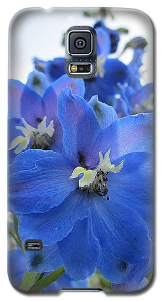 Blue Delphinium Rising Galaxy S5 Case
