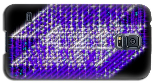 Blue Diamond Grid Galaxy S5 Case