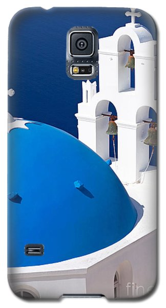 Blue Dome Church Galaxy S5 Case by Aiolos Greek Collections
