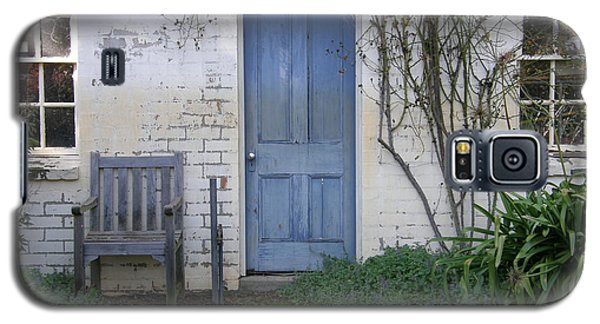 Galaxy S5 Case featuring the photograph Blue Door by Bev Conover