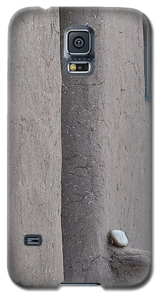 Galaxy S5 Case featuring the photograph Blue Door Gray Walls by Nadalyn Larsen