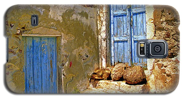 Blue Doors Of Santorini Galaxy S5 Case by Madeline Ellis