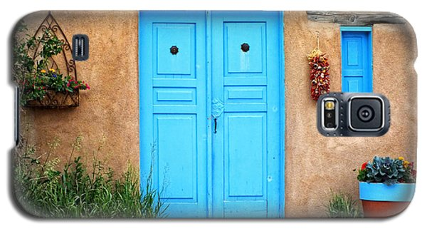 Blue Doors Of Taos Galaxy S5 Case