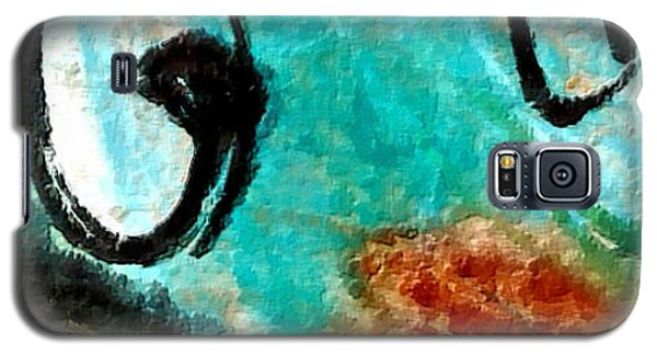 Galaxy S5 Case featuring the painting Blue Dream by Joan Reese