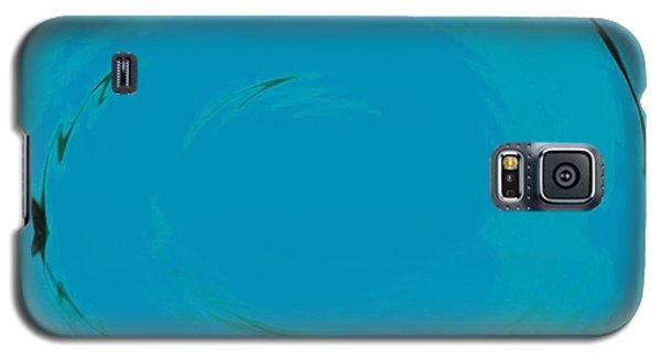 Galaxy S5 Case featuring the digital art Blue Oval by Phoenix De Vries