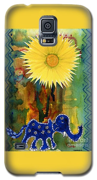 Blue Elephant In The Rainforest Galaxy S5 Case