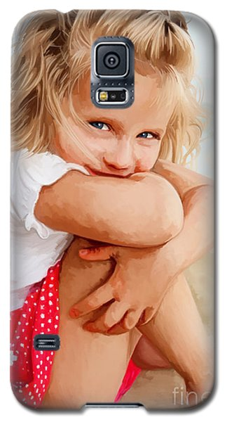Galaxy S5 Case featuring the painting Blue Eyed Girl by Tim Gilliland