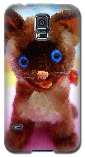Blue Eyed Kitty Galaxy S5 Case