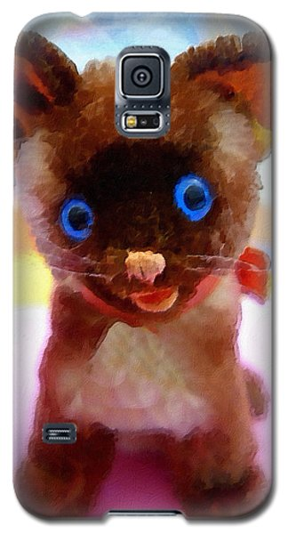 Blue Eyed Kitty Galaxy S5 Case