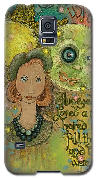 Blue-eyed Moon Galaxy S5 Case