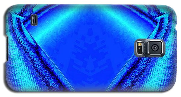 Blue Fabric Galaxy S5 Case