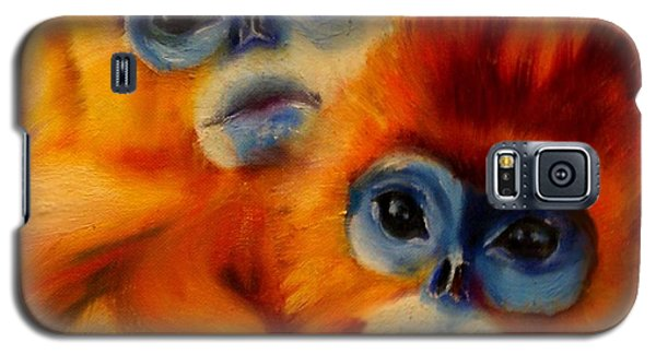 Blue Faced Monkey Galaxy S5 Case