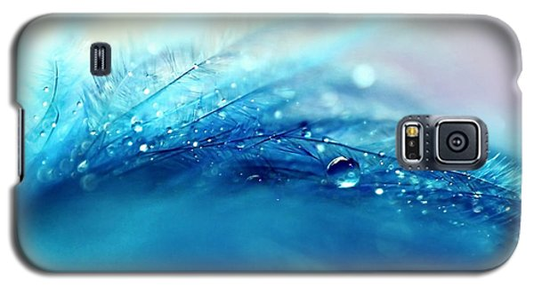 Blue Feather Galaxy S5 Case by Sylvia Cook