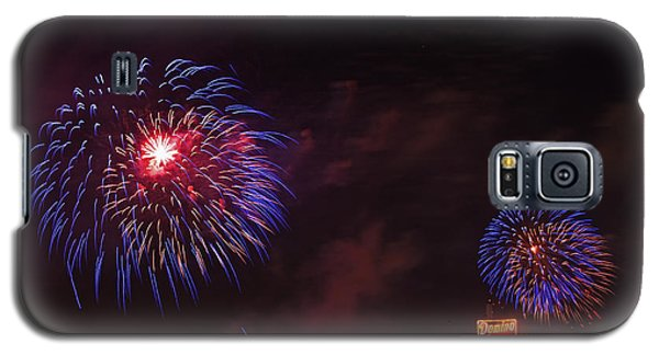 Blue Fireworks Over Domino Sugar Galaxy S5 Case