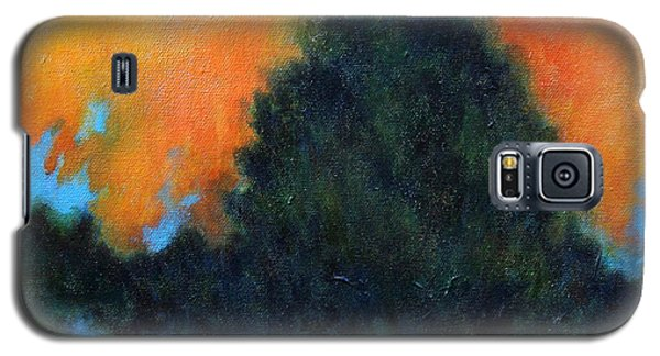 Galaxy S5 Case featuring the painting Blue Flame by Alison Caltrider