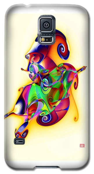 Blue Flame In A Maze Galaxy S5 Case by David Jenkins