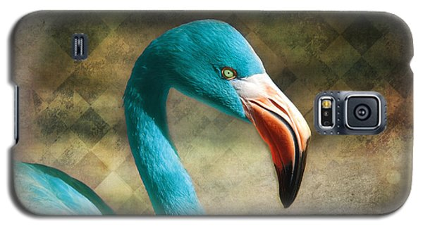 Blue Flamingo Galaxy S5 Case by Barbara Orenya