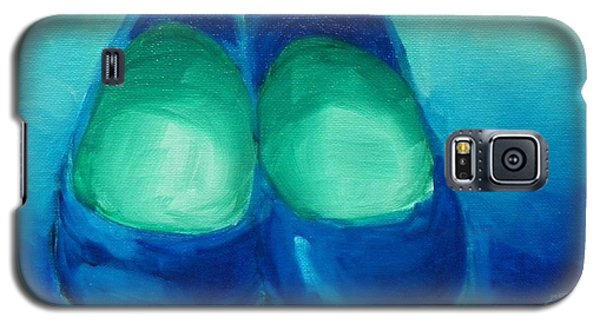 Galaxy S5 Case featuring the painting Blue Flats by Marisela Mungia